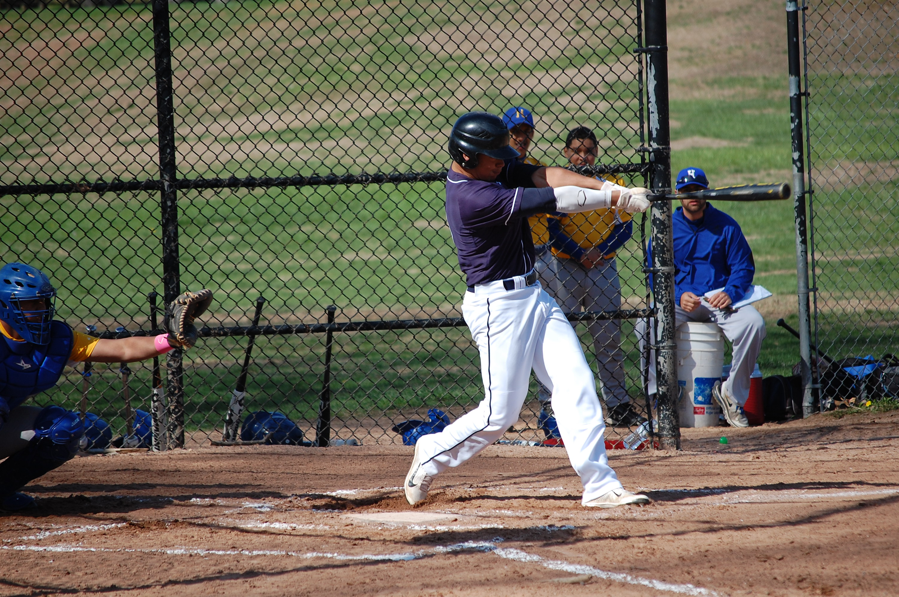 Topher Brown blasts a 2 run homer in the 2nd inning Monday!