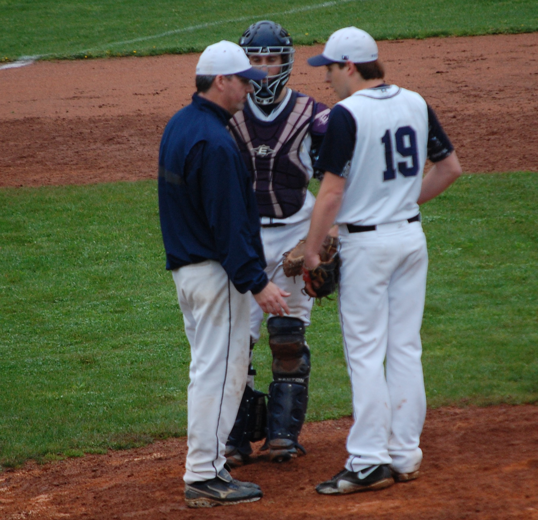 Ryder Chasin and Adam Dulsky strategize during mound visit Friday!